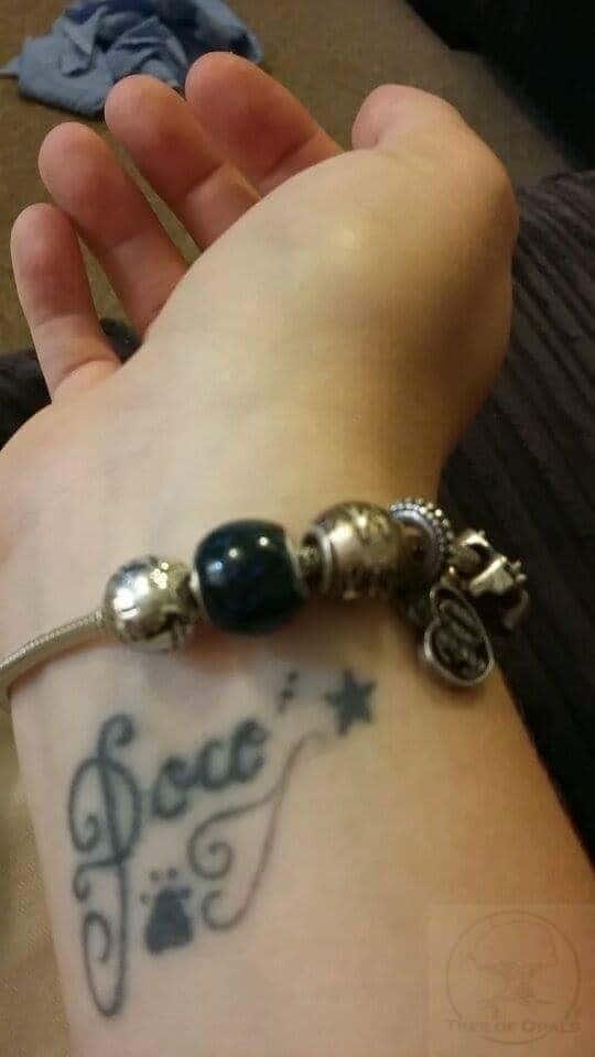 wrapscrap charm on client's Pandora bracelet