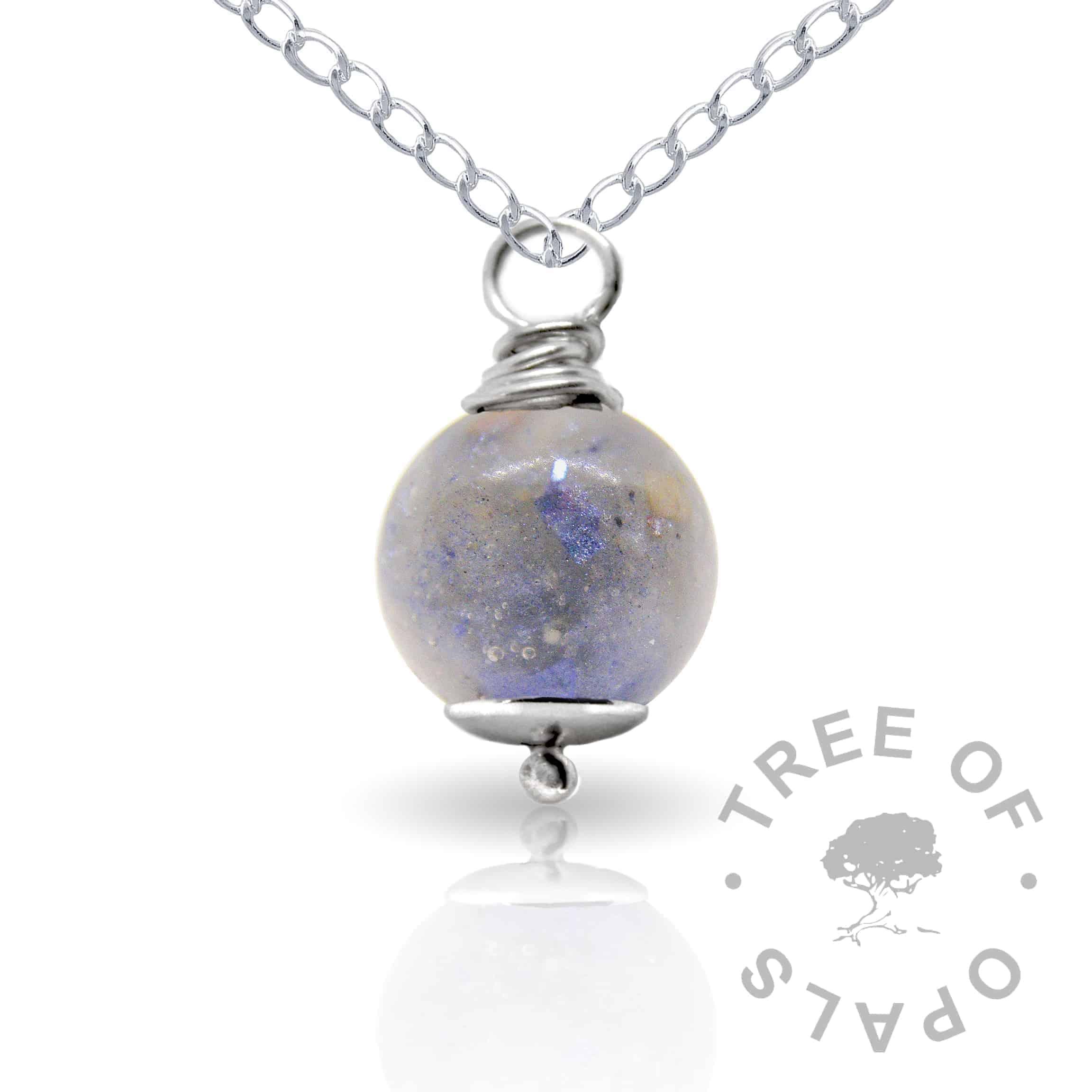 aegean blue cremation ash pearl