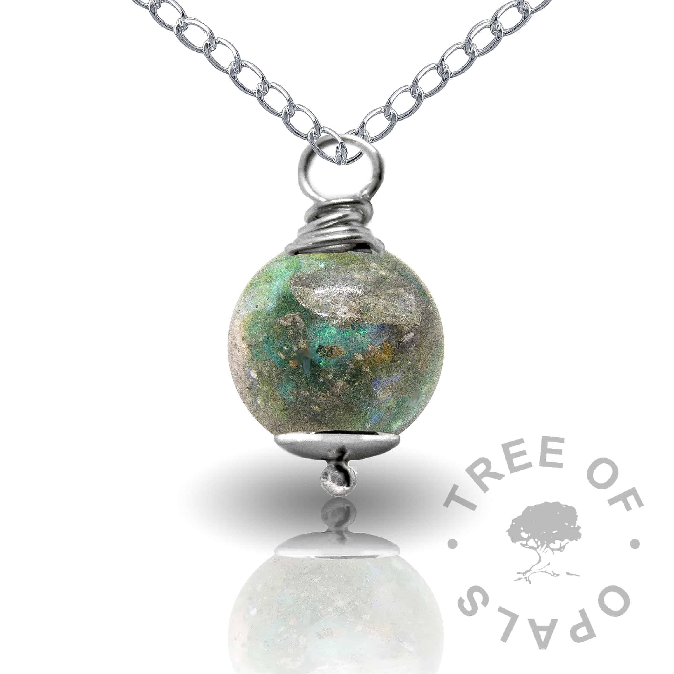 basilisk green cremation ash pearl