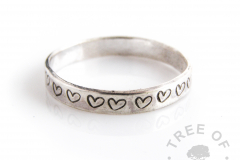 heart 3mm stacking ring, handmade to order from scratch