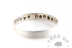 sterling silver brushed band stacking ring 3mm