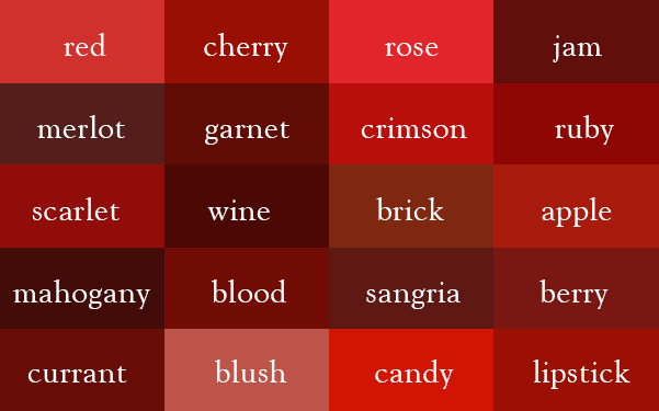 color-thesaurus-correct-names-red-shades