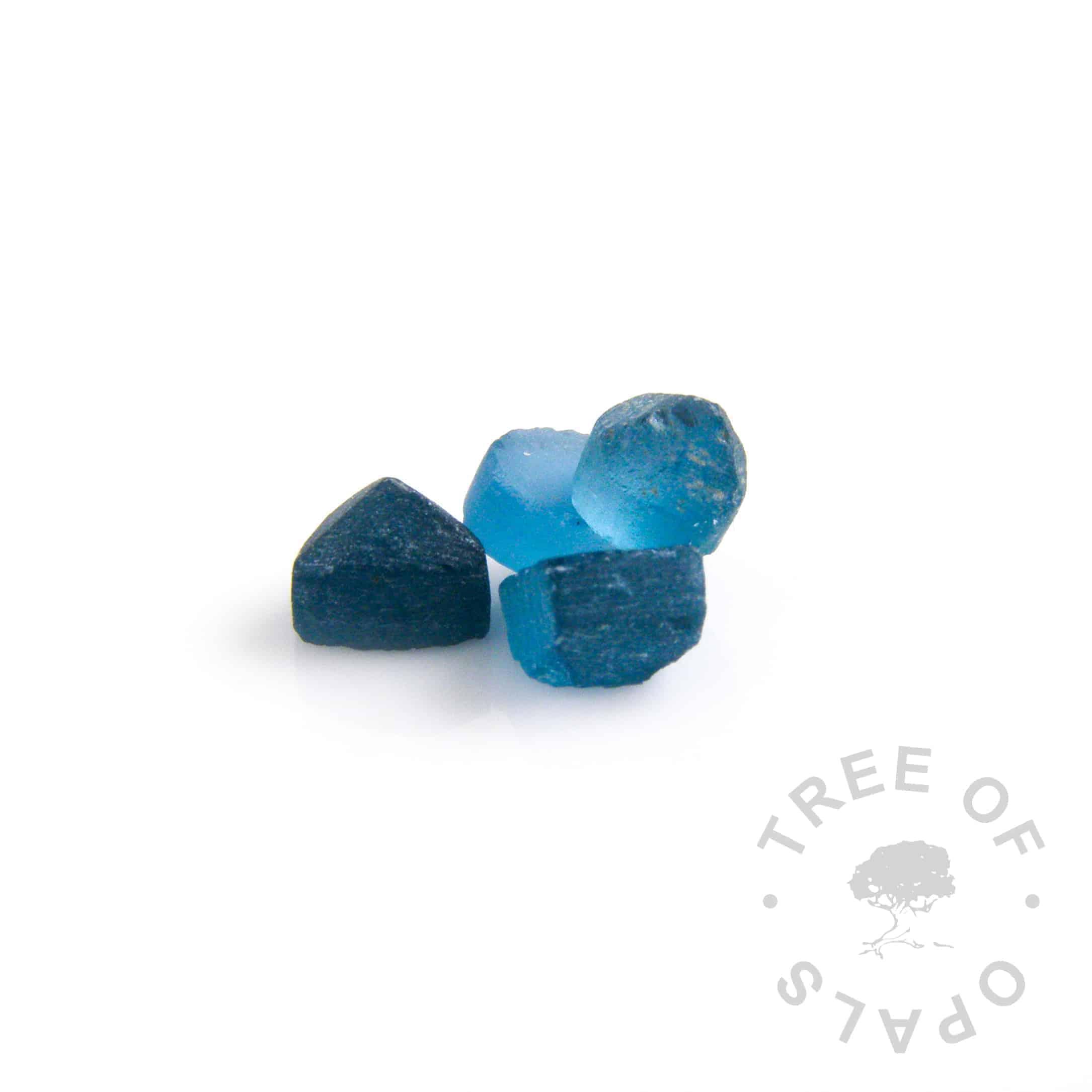 December birthstone blue topaz rough natural precious stone