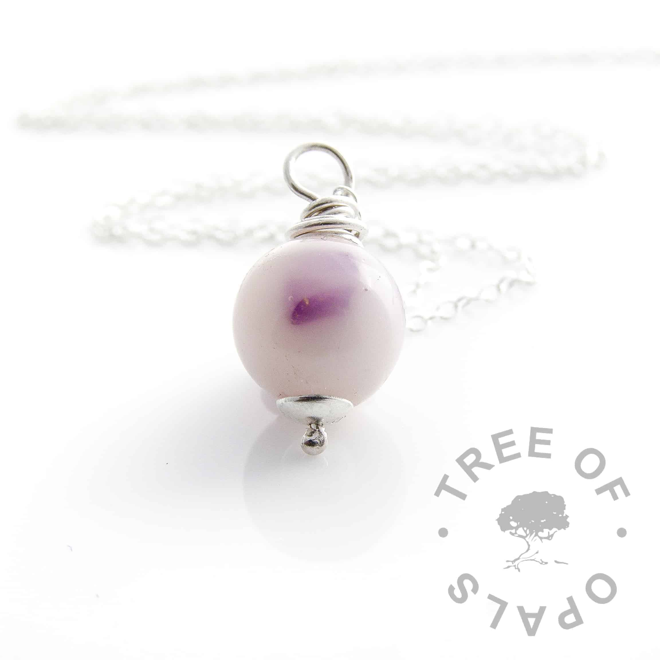 breastmilk pearl amethyst wire wrapped necklace February birthstone