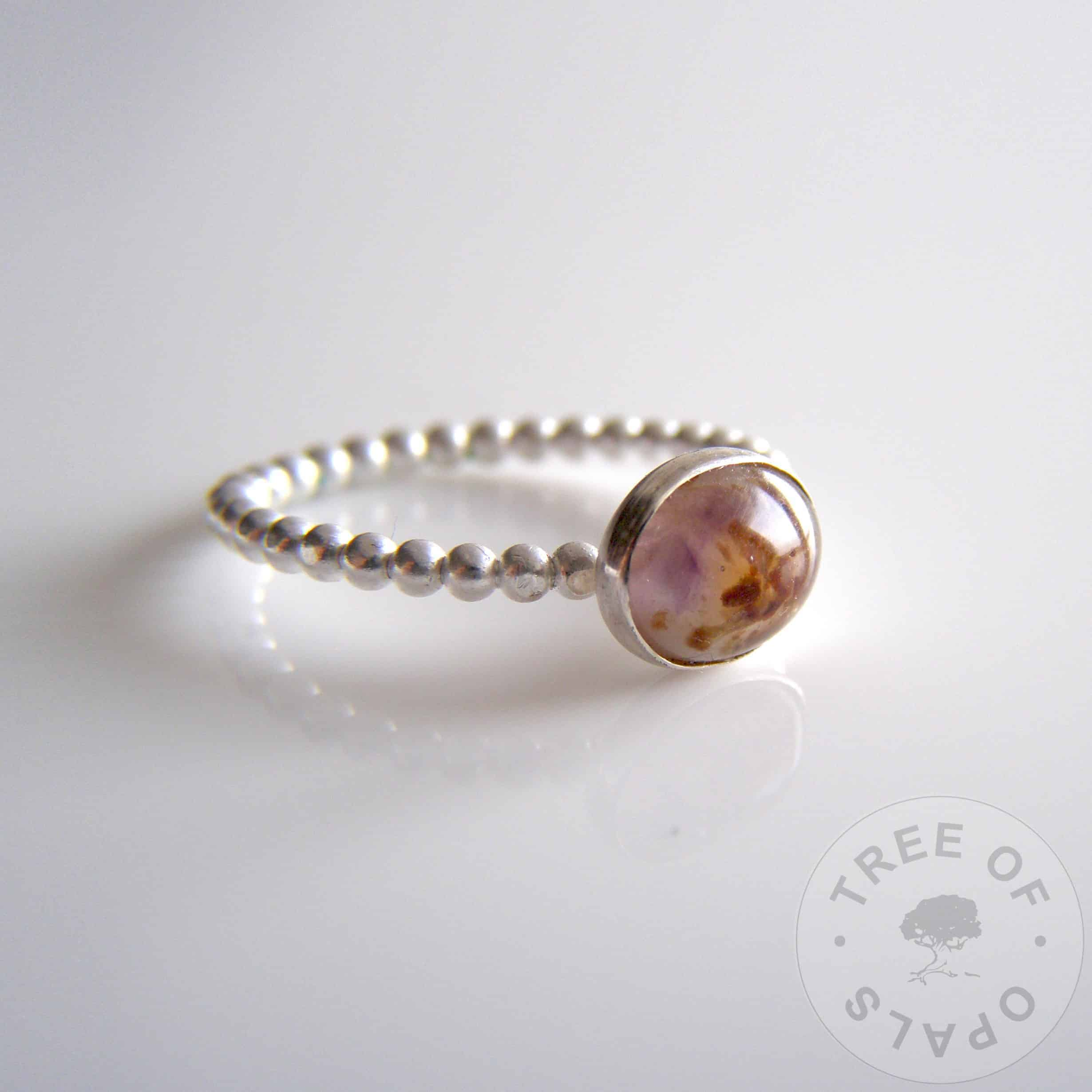 umbilical cord and breastmilk stacking ring