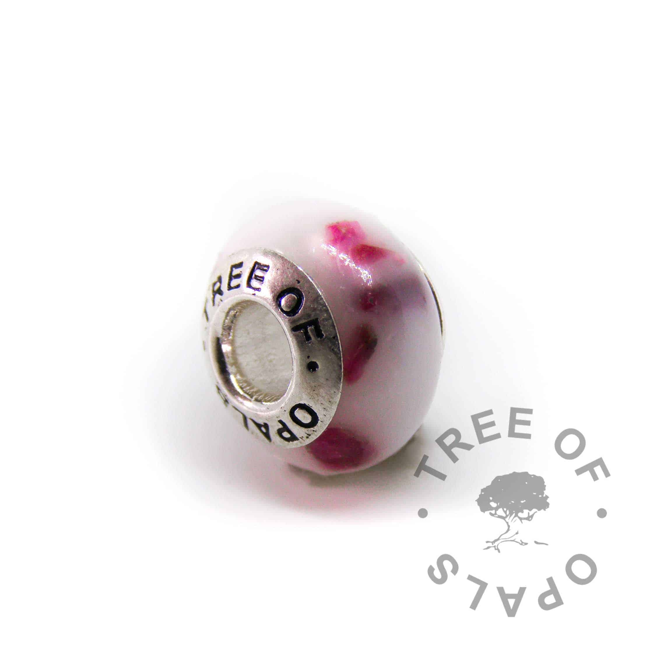 breastmilk charm with classic milk and ruby for July birthstone or 3 year breastfeeding award, charm bead for Pandora bracelets