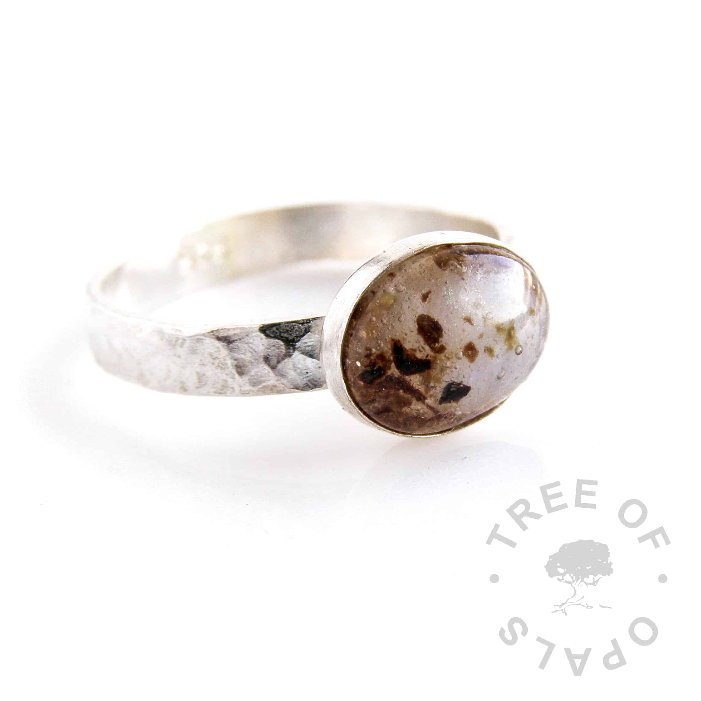 Umbilical cord ring June moonstone