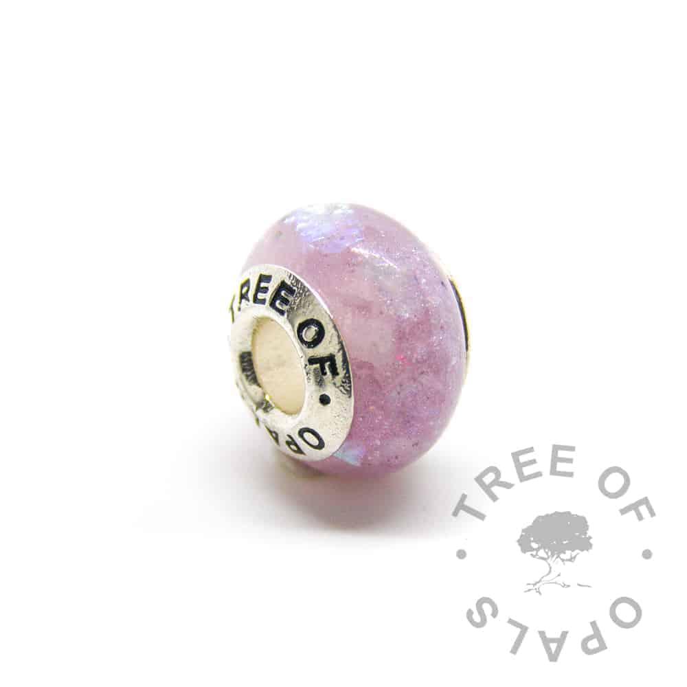 charm diamond powder orchid purple April birthstone diamond, Tree of Opals core