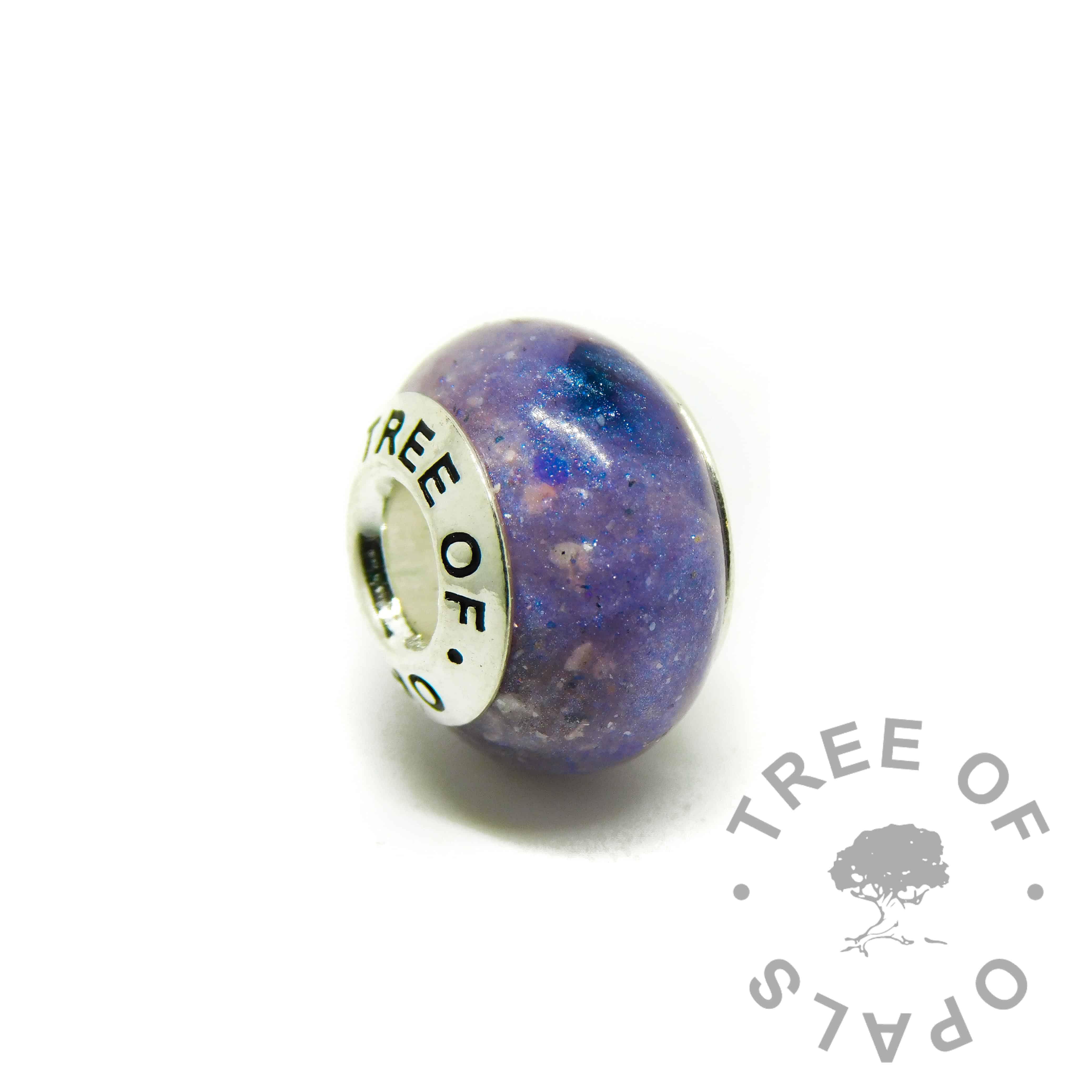 aegean blue cremation ashes charm sapphire